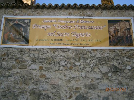 "Rivotorto, Italia: Manifesto del Presepe del ""Sacro Tugurio"""