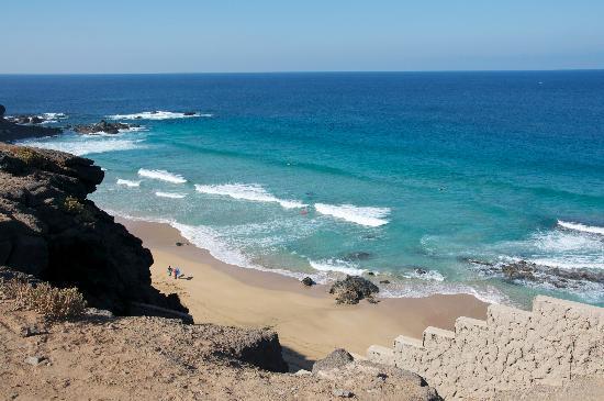 El Cotillo Beach & Lagoons: Spiagge a sud di El Cotillo