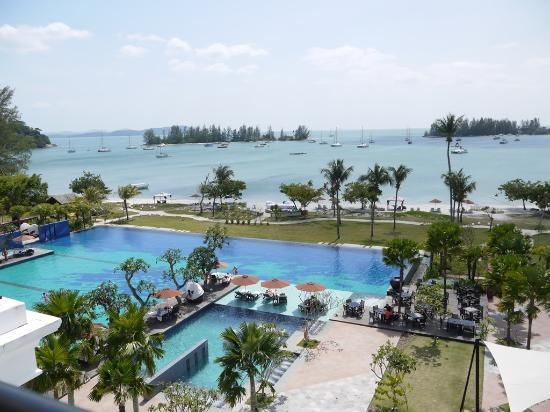 The Danna Langkawi, Malaysia: the view from the balcony