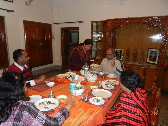 Homestay: At dinner table