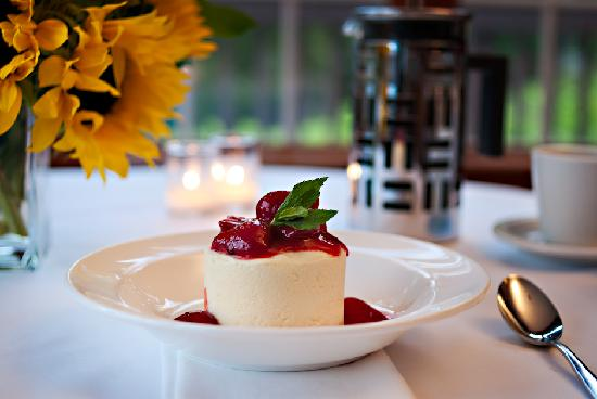 Mezze Bistro & Bar: Cheesecake with Lakeview Orchard Strawberries -- Photo credit Nathaniel Johnston