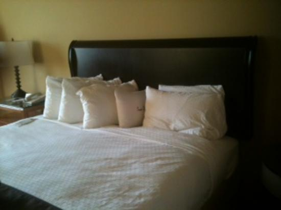 DoubleTree by Hilton Memphis Downtown: King bed with beautiful linens