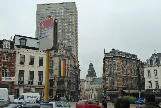 Across the street from Pierre Marcolini in Place Sablon, Brussels