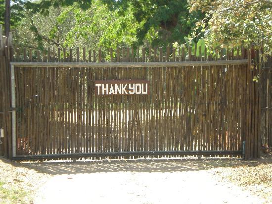 Wildebees Ecolodge: bedankt voor je bezoek