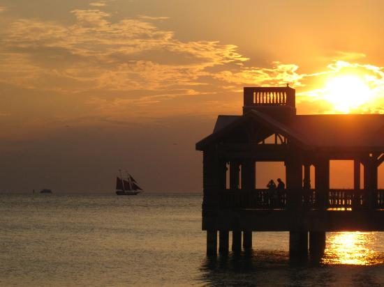 Sunset view from Louie's bar. - Picture of Louie's ...