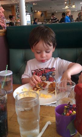 Pig 'N Pancake: Baby Boy enjoying Breakfast!