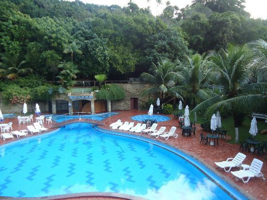 Best Western Shalimar Praia Hotel: Vista da varanda dos apartamentos de fundos
