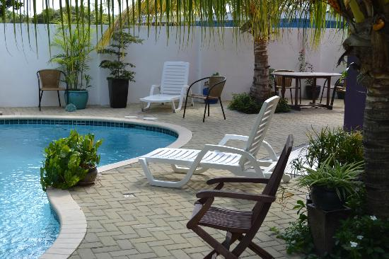Quint's Travelodge: Another view of the pool, plenty room to relax