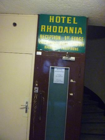 Hotel Rhodania : Rezeption ist nicht im Erdgeschoss