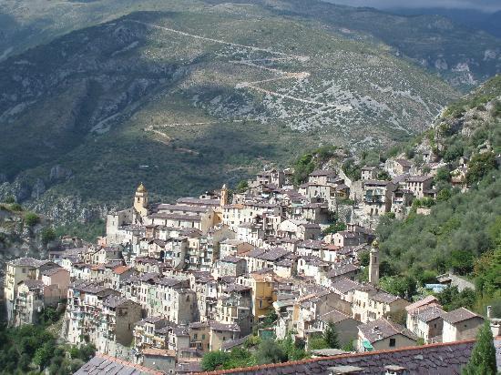 Monastere de Saorge : Vue générale du village de Sorge