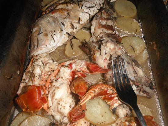 Las Palmas Maya: The Meal Andy made for us