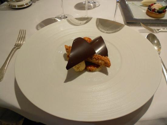 Restaurant Gordon Ramsay : Banana Parfait and peanut butter mousse