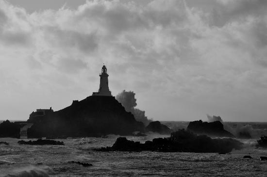 Corbiere Lighthouse (La Corbiere): Windy Day