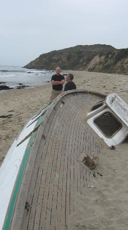 Point Dume State Beach and Preserve: How did this boat get here?