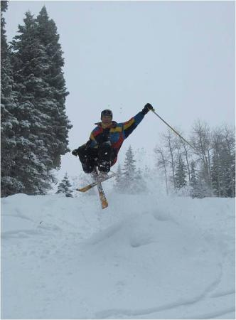 Brundage Mountain: Stupid old man jumps into Skidaddle... he didn't make it and we buried him on the spot!