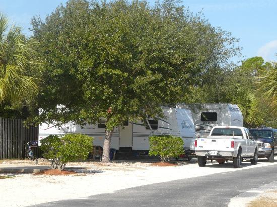 Navarre Beach Camping Resort: Our Campsite