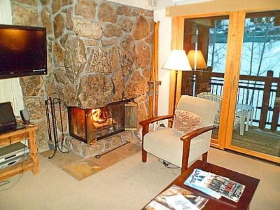 Lift One Condominiums: Fireplace in livingroom