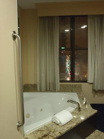 Courtyard by Marriott Nashville Downtown: View from the tub