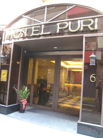 Hotel Puri: front of the hotel