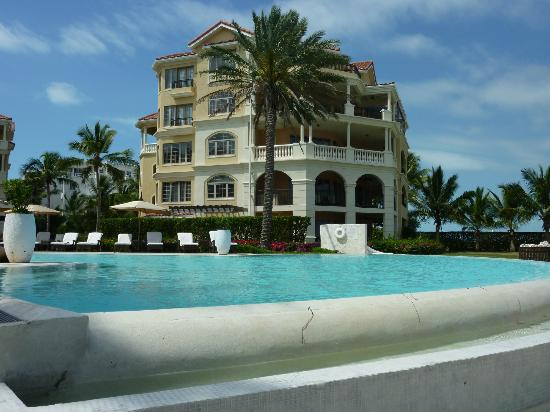 The Somerset on Grace Bay: View from the edge of the infinity pool.