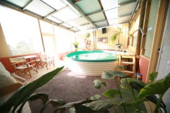 Down to Erth B &B: Plunge pool & Bbque area
