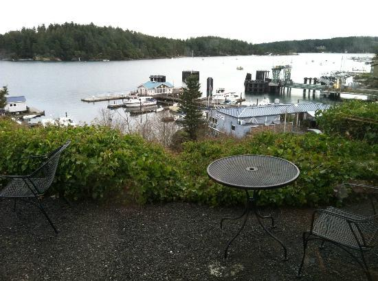 Friday Harbor House: view from dining area