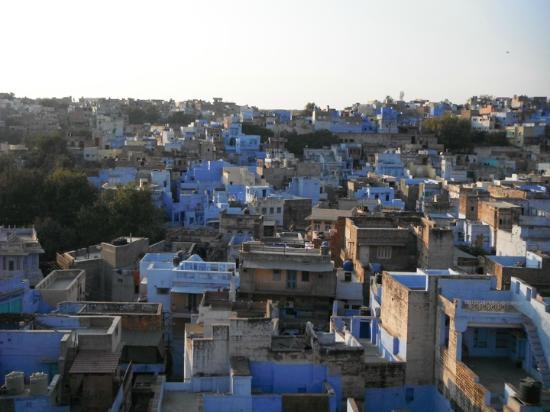 View of 'Blue City' from rooftop, Singhvi's Haveli
