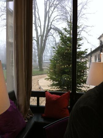 Chateau De Germigney : wintergarden view towards the parc