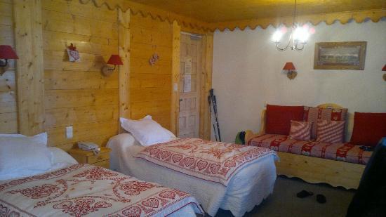 Hotel Les Glaciers: Chambre Twin