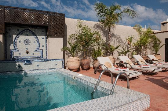 Riad le Clos des Arts: plunge pool on the roof terrace