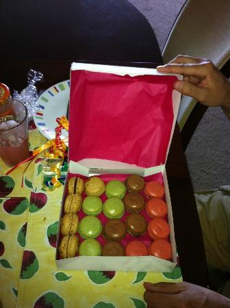 Our treat, from Le Macaron in Sarasota (St Armands Circle)