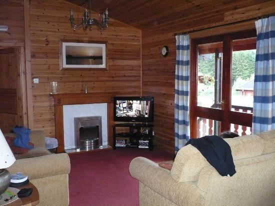 Kielder Lodges: living room