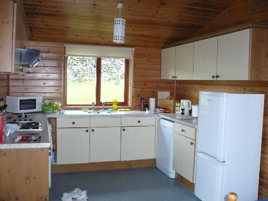 Kielder Lodges: kitchen