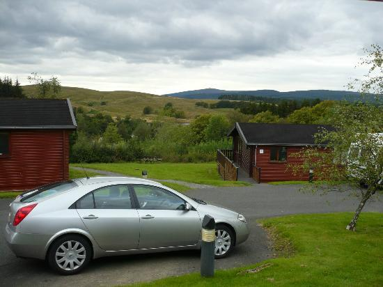 Kielder Lodges: view from cabin
