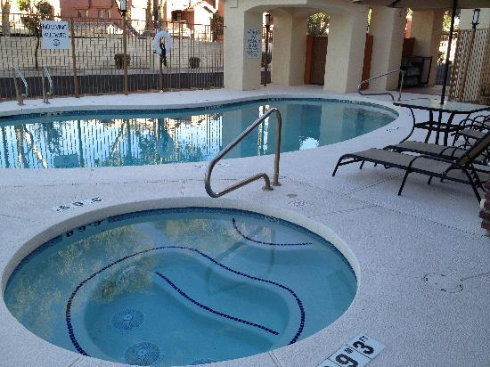 Holiday Inn Express & Suites Phoenix Tempe University : Relax after a long day in our heated outdoor pool and spa