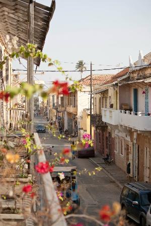 Saint-Louis, Сенегал: Vista desde el balcon de una habitacion