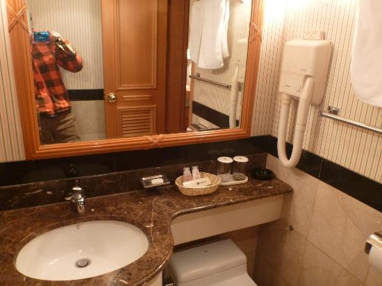 Hotel Nostalgia: 洗面所も狭いけど綺麗でした