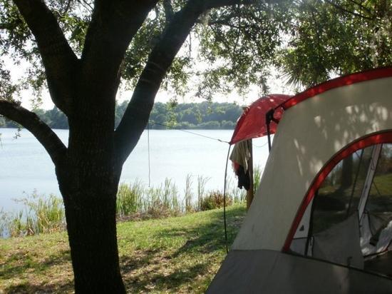 KOA Campground: the tent site
