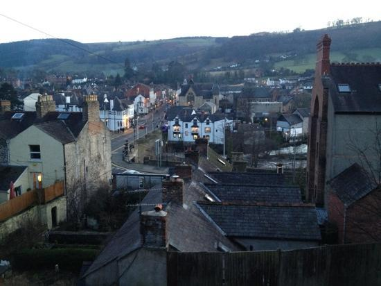 View of Llangollen from the Llangollen Wharf Cafe