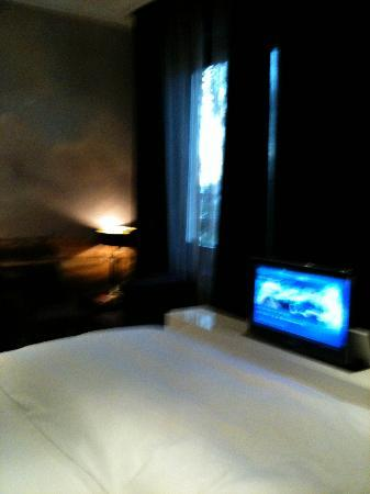 Hotel & Spa Savarin: TV comes out off the bed