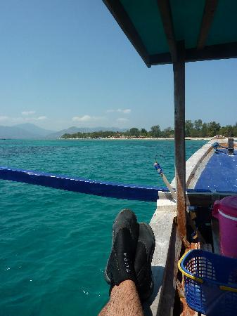Blue Marlin Dive Gili Trawangan: Relaxing after a dive