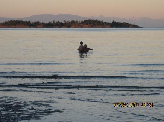 Beach Acres Resort: evening swim
