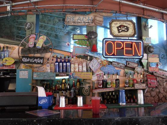 Deck Restaurant At Sea Club: I loved the bar.