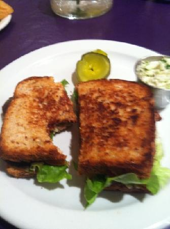 Barking Dog Cafe: house cured BLT with tomato jam