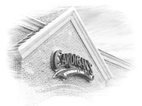 Cardigan's: Sign Sketch