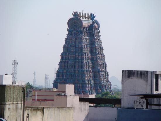 Meenakshi temple from hotel Empee rooftop