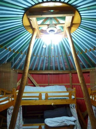 Daichan House: Inside the yurt