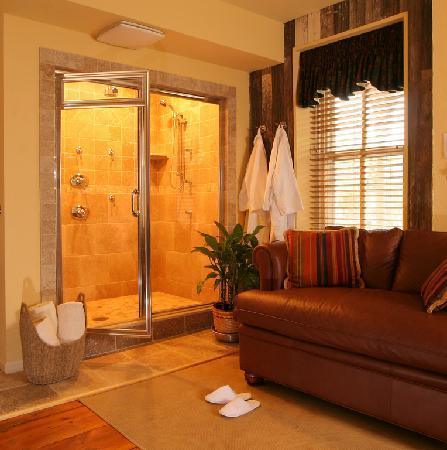 Enjoy A Steam Shower For Two In One Of Our Farmhouse Suites