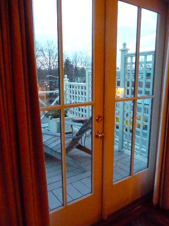 Hotel Fauchere: Doors to Balcony