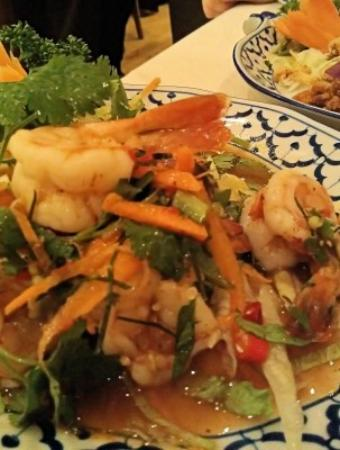 Bangkok Brasserie : This was the scrummy prawn and lemongrass salad I ate - cracking!
